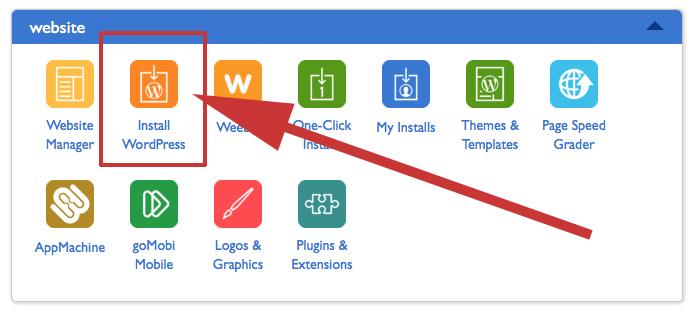 Install WordPress Icon