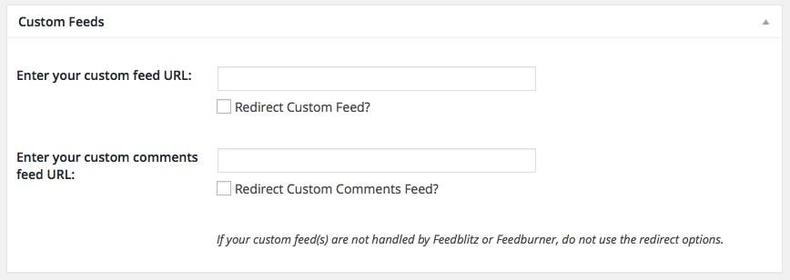 Theme Options: Custom Feeds