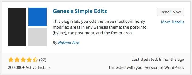 Genesis Simple Edits Plugin